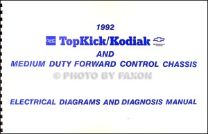 1992 Chevy Kodiak GMC Topkick Wiring Diagram Manual 92