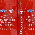 2007 Ford Explorer Mercury Mountaineer Wiring Diagram Manual Original