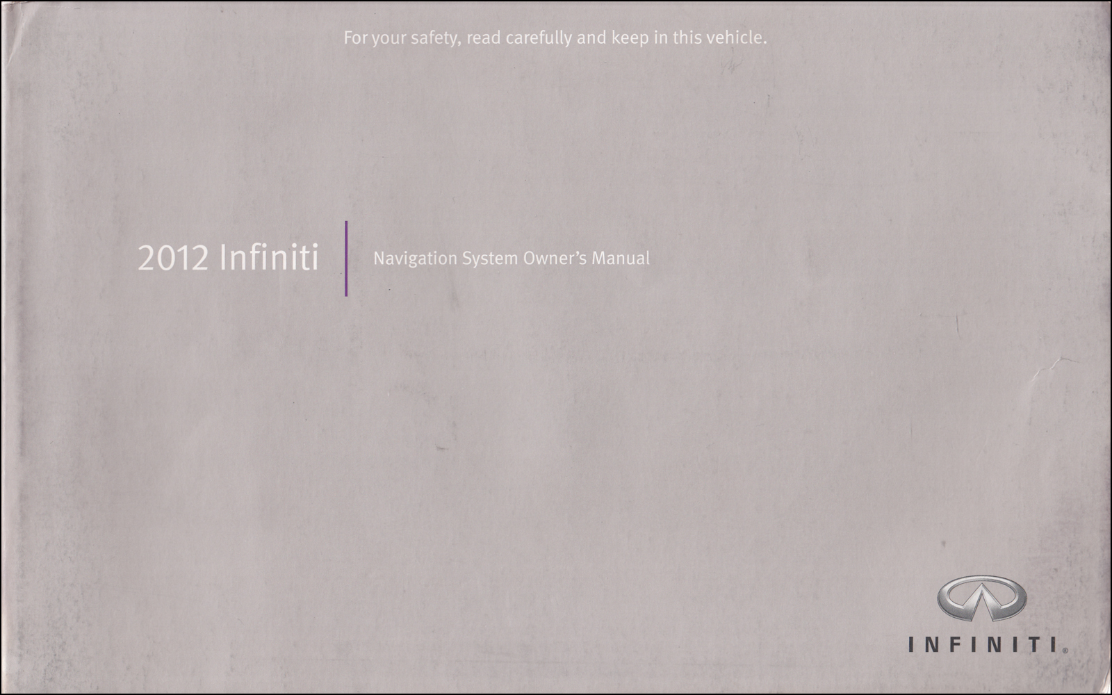 2012 Infiniti M Owner's Manual Original Gas M37 M56