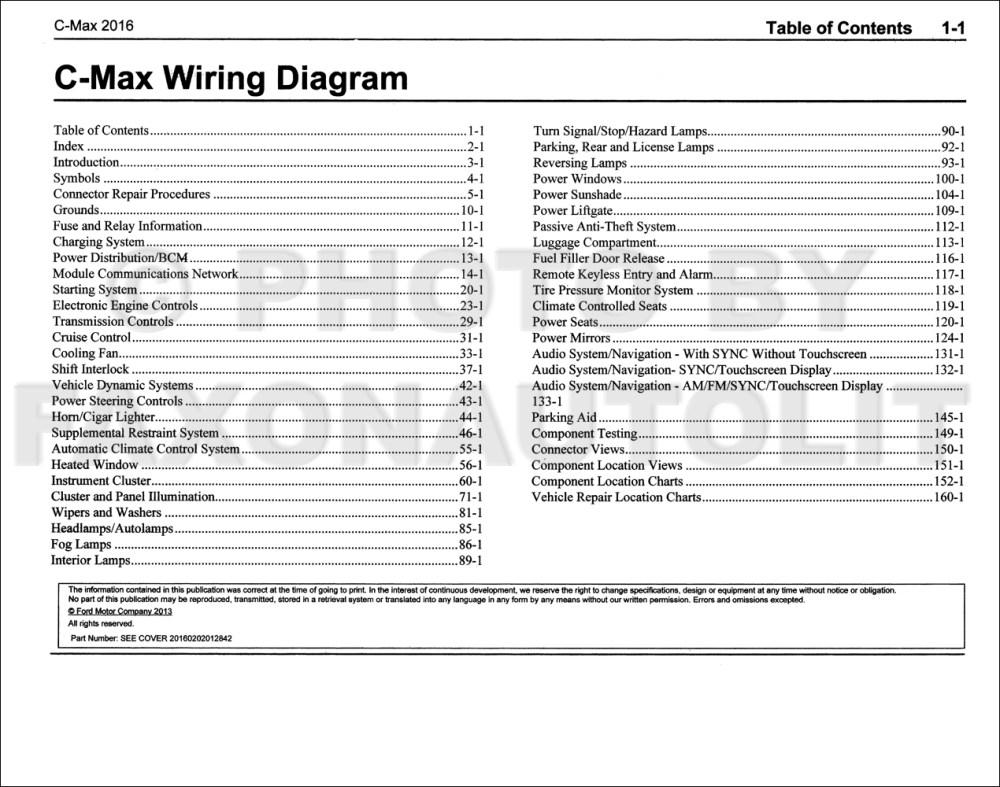 medium resolution of 2016 ford cmax wiring diagram manual original