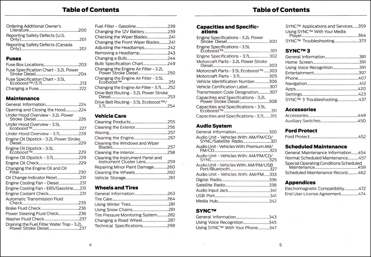 2018 Ford Transit Owner's Manual Original