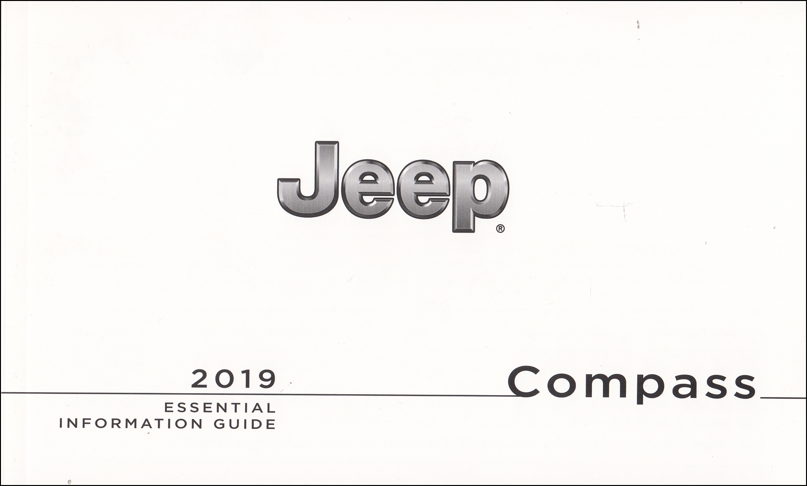 2019 Jeep Compass User Guide Owner's Manual Package With