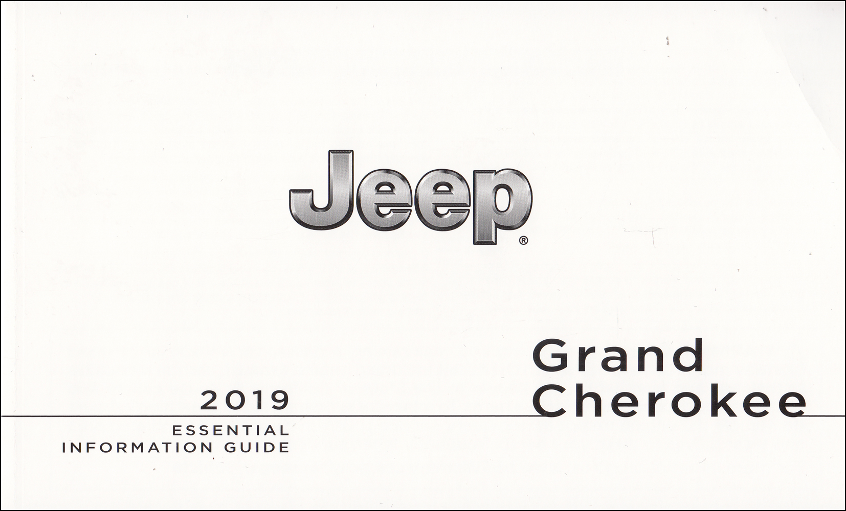 2019 Jeep Grand Cherokee Owners Manual Essential