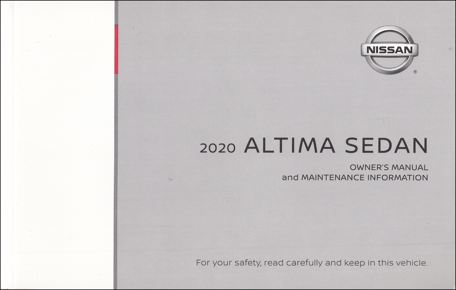 2020 Nissan Altima Sedan Owner's Manual Original