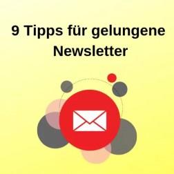 9 Tipps für gelungene Newsletter