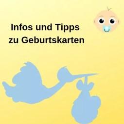 Infos und Tipps zu Geburtskarten