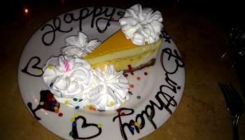 The Cheesecake Factory Happy Birthday Sis