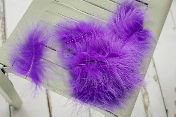 Sunbird Purple Marabou Feathers