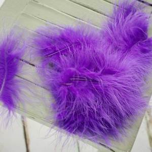 Sunbird Purple Marabou Feathers