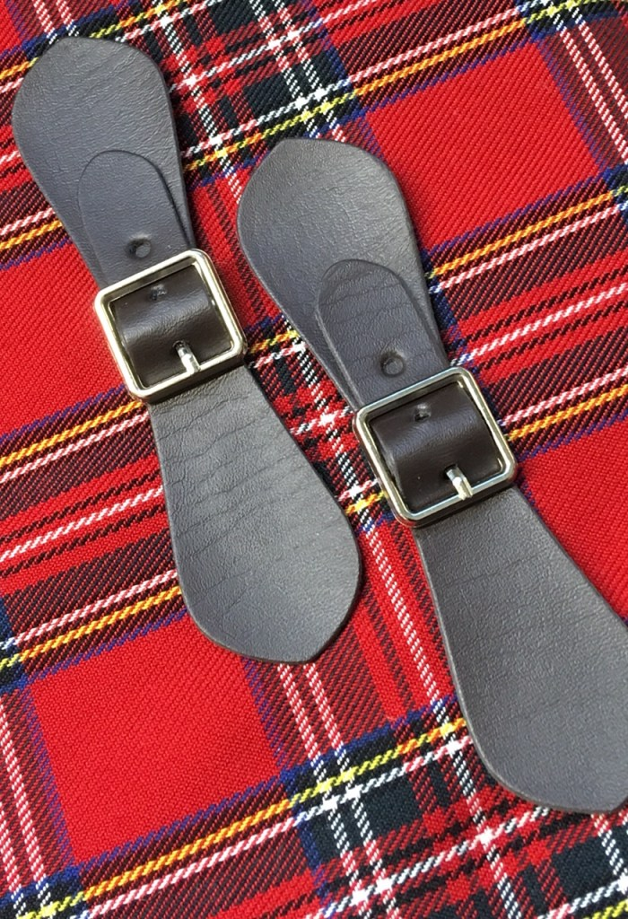 tartan fabric and ribbons