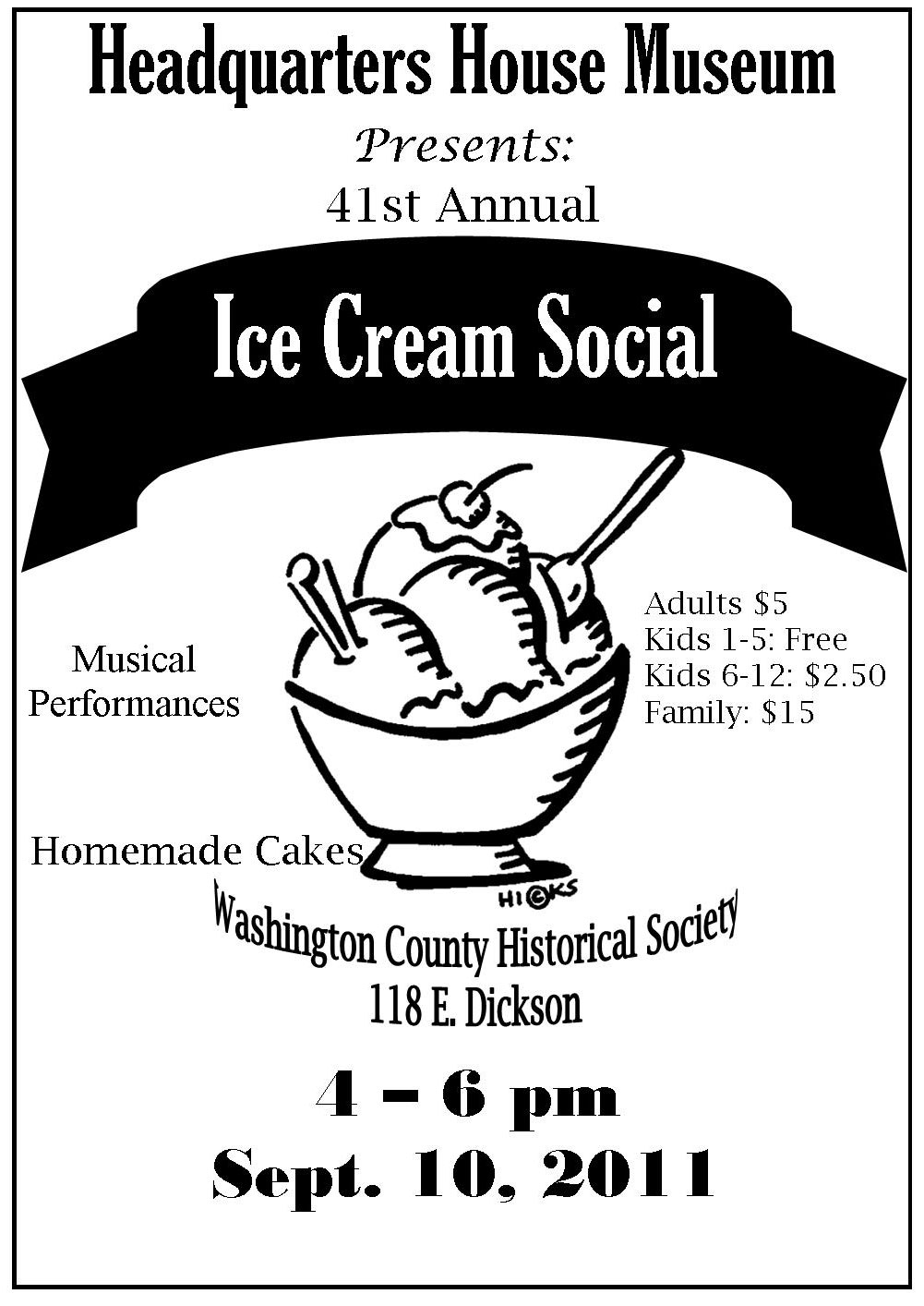 41st annual Ice Cream Social set for Saturday, Sept. 10 at