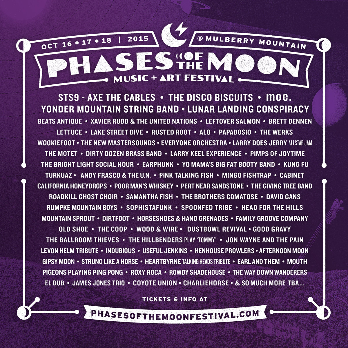 Phases Of The Moon Announces First Lineup In Arkansas