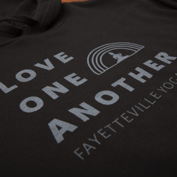 Love One Another cozy hoodie by Fayetteville Yoga Fest in Northwest Arkansas
