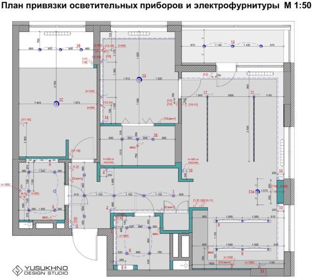 Планирование освещения и выключателей при ремонте в новостройке
