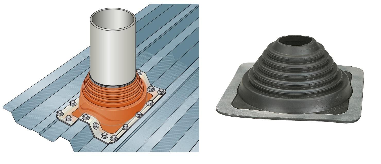 manchon fenoflash de sortie de toiture pour bacs acier