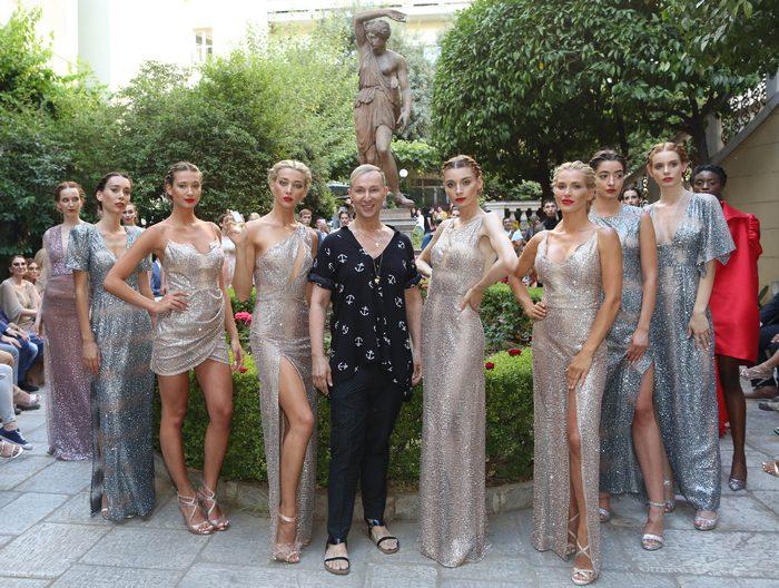Βασίλειος Κωστέτσος: Το λαμπερό fashion show αφιερωμένο στη  Μελίνα Μερκούρη