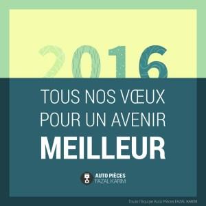 Meilleurs voeux pour 2016