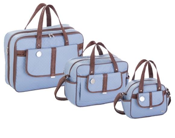 Kit Maternidade Soft Azul Militar com 3 Peças