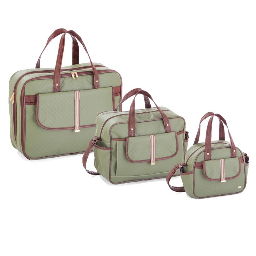 Kit Maternidade Soft Verde Militar com 3 Peças