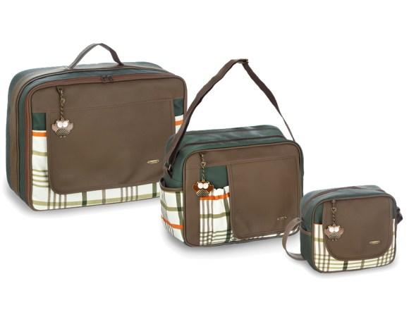 Kit Maternidade Escocês Verde com 3 Peças
