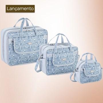Kit Bolsas Maternidade Chuva Azul