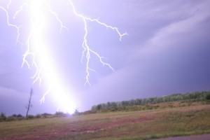 Cuidados nos casos de Tempestades de Raios!