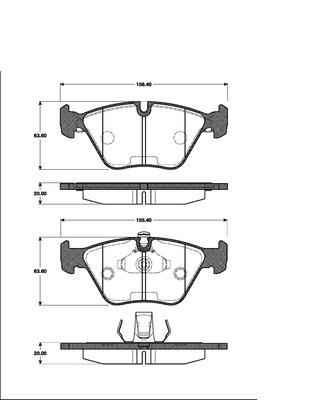 Brake DISCS 296mm + Pads Front BMW e39 520i 523i 528i 520d