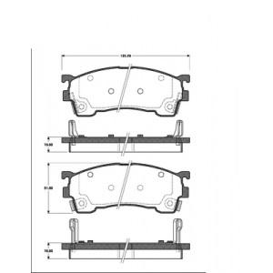 BREMSENSET VORNE + HINTEN MAZDA 626 GE