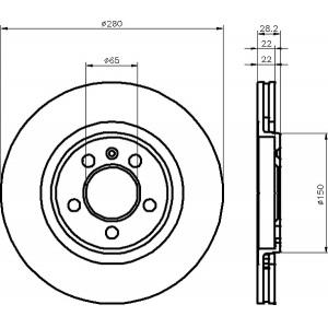 TEXTAR BSET VORNE VW GOLF 3 III GTI & VR6 280mm