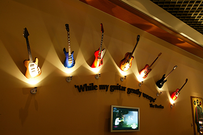 Memo - Guitars over Beatles Quote Courtesy Hard Rock Cafe International