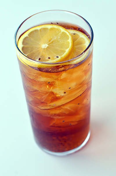 HIGH RES Black Iced Tea with Chia Seeds