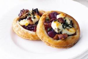Cabernet Sauvignon's sultry bold flavor pairs deliciously with smoked onion and gruyere cheese tarts