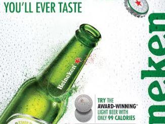 Heineken Light Award Winning Beer