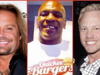 Quickee Burgers Celerbrity partners Mike Tyson, Vince Niel, and Ian Ziering