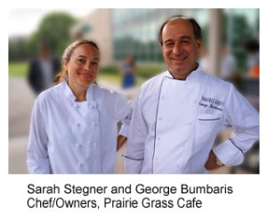 Sarah Stegner and George Bumbaris Chef Owners, Prairie Grass Cafe