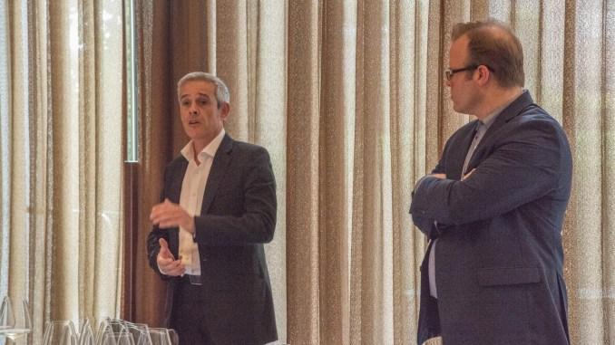 L-R: Frédéric Raynaud- CEO, Dopff & Irion and Jeff Taylor- Wine Director, Felidia
