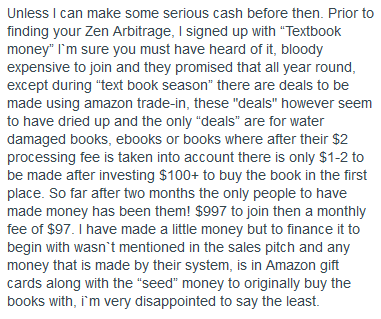 """""""Textbook Money"""" Implodes: Ex-members speak out Amazon's trade in program"""