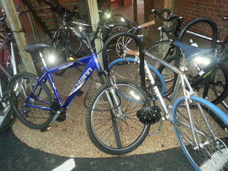 FBC 15 Bikes at the beginning of the night