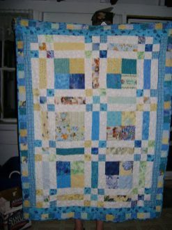 Another quilt for a very special baby boy. I just love making baby quilts.