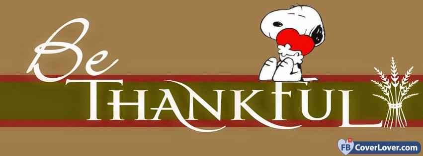 Peanuts Fall Wallpaper Be Thankful Holidays And Celebrations Facebook Cover Maker