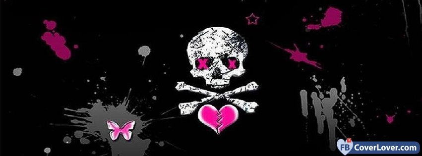 Cute Hug Wallpapers With Quotes Skull Facebook Cover Emo Goth Facebook Cover Maker
