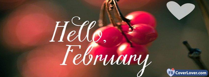 Cute Dreamcatcher Wallpaper Hello February Cherry Love Seasonal Facebook Cover Maker