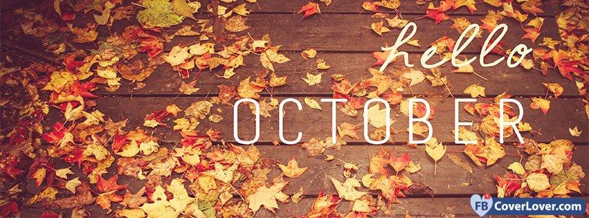 Peanuts Wallpaper Fall Hello October 2 Seasonnal Facebook Cover Maker