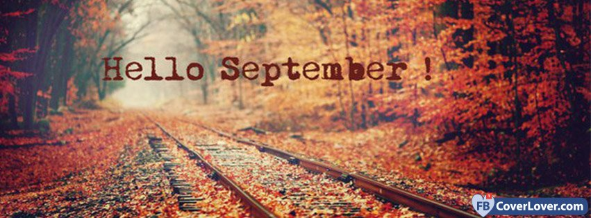Seasonal Fall Coffee Desktop Wallpaper Hello September Woods Seasonal Facebook Cover