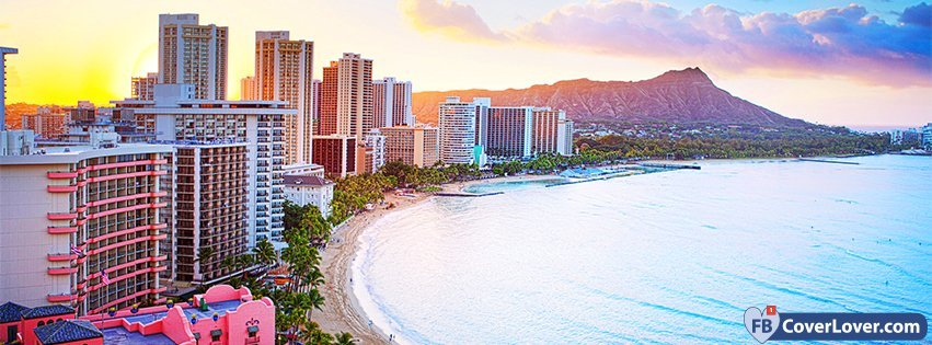 Emo Wallpaper Quotes Waikiki Beach Hawaii Nature And Landscape Facebook Cover