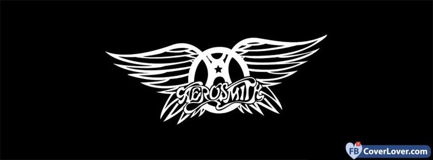 Cute Patterns For Wallpapers Aerosmith Logo Black Background Music Facebook Cover Maker