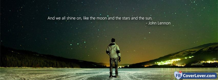 Emo Wallpaper Quotes And We All Shine On Lyrics Facebook Cover Maker
