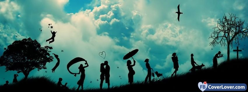 Cute Dreamcatcher Wallpaper Human Life Cycle Life Facebook Cover Maker Fbcoverlover Com