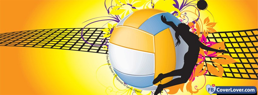 Wallpaper Volleyball Quotes Volleyball 3 Sports Facebook Cover Maker Fbcoverlover Com