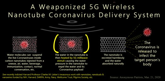 A Weaponized 5G Wireless Nanotube Coronavirus Delivery System that Fauci paid Lieber to build.